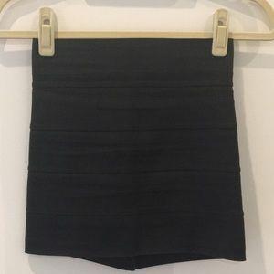 Pleasure Doing Business 5 Band Black Skirt